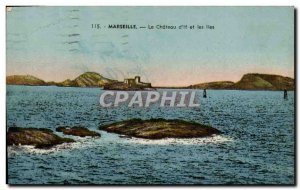 Old Postcard Marseille Le Chateau d & # 39If and Islands