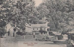 Dalhousie Church & Mall Road Old Indian Postcard
