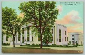 La Grange Georgia~Troup County Courthouse~Clock Above Entrance~1951