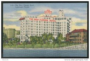The New Florida Hotel  Lakeland FL Unused Curteich Linen Postcard 1952