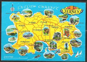 1978, Jersey, Map, mailed to West Germany