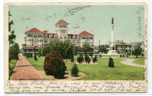 Windsor Hotel Hemming Park Jacksonville Florida 1906 postcard