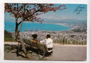 Israel, Haifa, view from Mt. Carmel, 1972 used Postcard