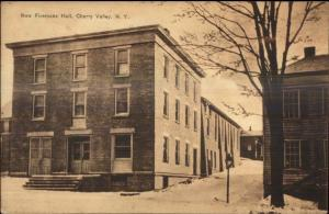 Cherry Valley NY New Firemens Hall Fire Station c1910 Postcard