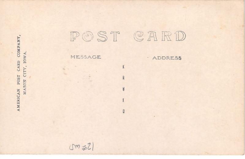 Dayton Iowa~Public School Building~Some Windows Open~c1910 RPPC Postcard
