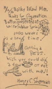 BAILEY ISLAND, Maine, 1936; Poem and drawing