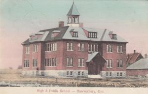 HAWKESBURY, Ontario, Canada, PU-1911; High & Public School