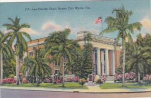 Florida Fort Myers Lee County Court House Curteich
