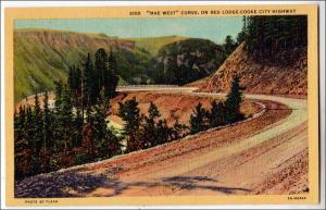 MT - Mae West Curve, Red Lodge-Cooke City Highway