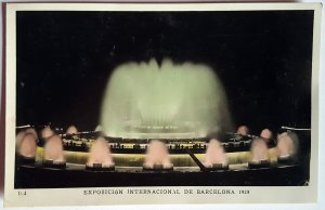 4 VINTAGE POSTCARDS BARCELONA UNIVERSAL EXPOSITION OF 1929. NUMBEREDS. UNUSED!!!