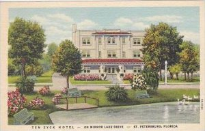Florida St Petersburg Ten Eyck Hotel on Mirror Lake Drive Curteich