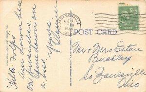 LP63   Jacksonville   Florida Postcard Greyhound Union Bus Station Art Deco Bldg