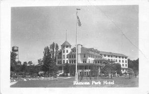 H35/ Harbor Springs Michigan RPPC Postcard c1950s Romona Park Hotel  18