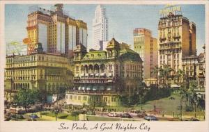 Brazil Sao Paulo Downtown View 1955