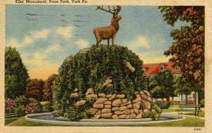 PA - York. Elks Monument, Penn Park