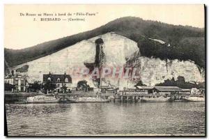 Old Postcard Ardoisieres De Rouen Le Havre aboard the Felix Faure Biessard Ca...
