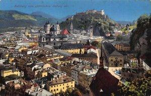 Salzburg vom elektrischen Aufzug aus Church General view Postcard