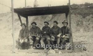 Miners Real Photo People Working Postcard Post Card, Old Vintage Antique  Miners