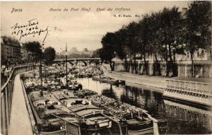 CPA PARIS (1e) Bassin du Pont Neuf. Quai des Orfevres (562601)