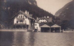 Gosaumuhle Gasthof Pension Hotel Riverside Antique Austrian Postcard