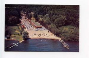 Lake Georget NY Scotty's Motel Old Cars Postcard