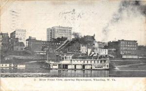 E87/ Wheeling West Virginia Postcard c1908 Clerimond Steamer Wharf 3