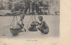 A Morning Meal , India , 1903