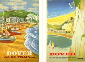 Dover By Train 2x Advertising Railway Postcard s