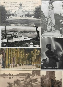 France - Lyon, Antibes, Paris and more Postcard Lot of 41 with RPPC 01.05