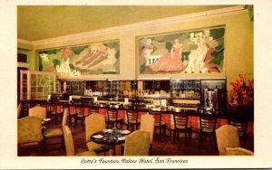 California San Francisco Palace Hotel Lotta's Fountain