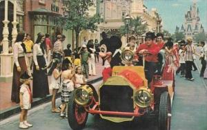 Florida Walt Disney World Riding Down Main Street U S A  1973