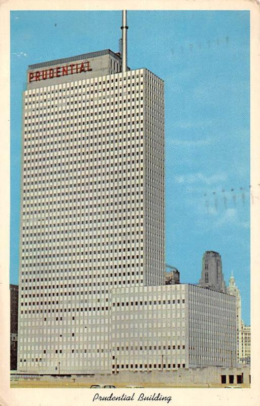 The Prudential Building, Chicago, auto car 1961
