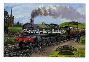 tm6169 - No.2914 Saint Agustine pulling Mail Train, Artist- G.S.Cooper- postcard