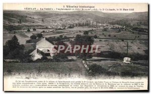 Old Postcard Vezelay The Cordele location or Saint fooling Precha the 2nd cru...