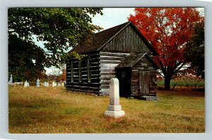 Huntsville Ontario- Canada, Madill United Church, Log Church, Chrome Postcard