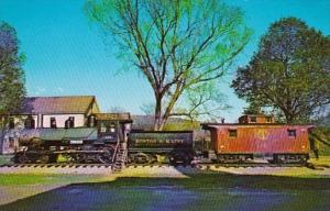 Trains Boston & Maine Old Steam Engine In White River Junction Vermont