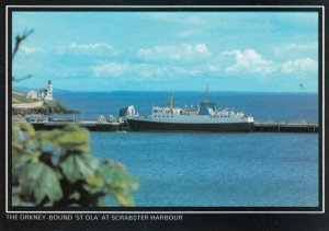 SCOTLAND, 1950-1960's; The Orkney Bound 'St. Ola' At Scrabster Harbour