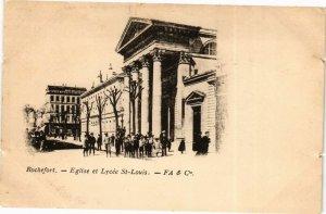 CPA ROCHEFORT-Église et Lycée St-Louis (45350)