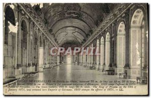 Old Postcard Versailles Hall of Mirrors