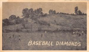 D28/ East Sparta Camp Zion Ohio Postcard 1947 Baseball Field Game Players