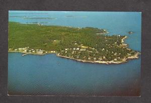 ME Aerial View Ocean Point, Linekin Neck, Boothbay Harbor, Maine Postcard PC