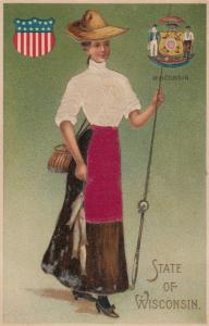 WISCONSIN State Girl , 00-10s ; Silk