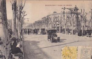 Barcelona , Spain , PU-1921 ; Paseo de Gracia