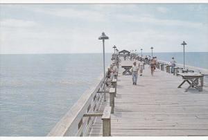 Fishing from pier , OCEAN DRIVE , South Carolina , 50-60s