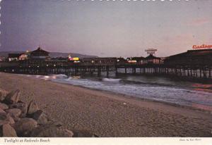 Twilight at REDONDO BEACH Pier, Kings Harbor, California, 50-70s