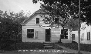 Sebago Lake ME Sawyer's Store Very Clear Real Photo Postcard