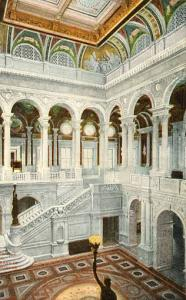 DC - Washington. Library of Congress, Central Stair Hall