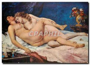 Postcard Modern Courbet The Sleep Musee du Petit Palais