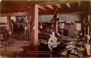 Reception Room at Glenwood Mission Inn Riverside CA Vintage Postcard A36