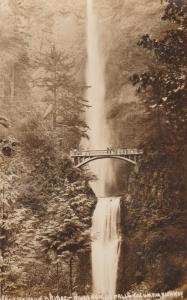 RPPC Benson Bridge at Multnomah Falls - Columbia River Highway, Oregon